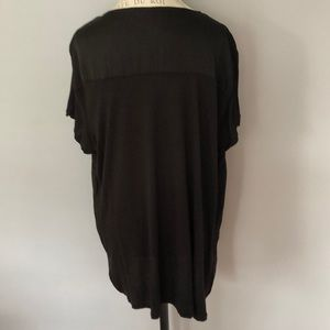 Michael Kors Tops - Michael Kors Black Hi-Low Hem Pullover Top SZ 2x